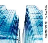 blue skyscrapers. my personal... | Shutterstock . vector #47562586
