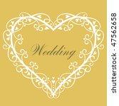 vector wedding background | Shutterstock .eps vector #47562658