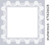 white openwork lace napkin on a ... | Shutterstock . vector #475626628