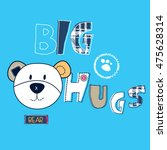 cute teddy bear cartoon  t... | Shutterstock .eps vector #475628314