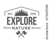 vintage logos explore nature  | Shutterstock .eps vector #475629286