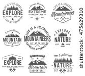 set of vintage logos... | Shutterstock .eps vector #475629310
