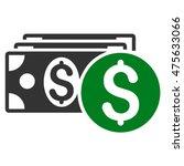 dollar cash icon. glyph style...   Shutterstock . vector #475633066