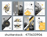 abstract a4 brochure cover... | Shutterstock .eps vector #475633906