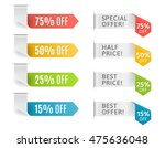 vector ribbons with offer and... | Shutterstock .eps vector #475636048