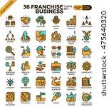 franchise business outline... | Shutterstock .eps vector #475640320