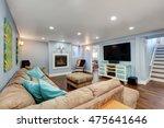 pastel blue walls in basement... | Shutterstock . vector #475641646