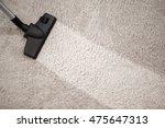 head of vacuum cleaner in dusty ... | Shutterstock . vector #475647313