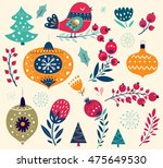 christmas collection ... | Shutterstock .eps vector #475649530