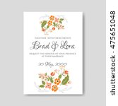 wedding ceremony invitation...   Shutterstock .eps vector #475651048