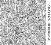 cartoon cute doodles hand drawn ... | Shutterstock .eps vector #475651450