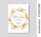wedding invitation or card with ... | Shutterstock .eps vector #475652380