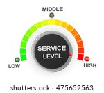 service level button position... | Shutterstock . vector #475652563
