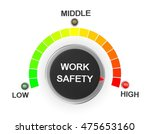 work safety button position 3d... | Shutterstock . vector #475653160
