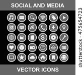 social and media vector icons | Shutterstock .eps vector #475654723