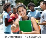 laughing caucasian female... | Shutterstock . vector #475660408