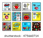 set of vector cards and banners ... | Shutterstock .eps vector #475660714