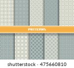vector set of seamless pattern... | Shutterstock .eps vector #475660810
