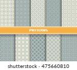 vector set of seamless pattern... | Shutterstock .eps vector #475660810