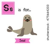 cute children zoo alphabet s... | Shutterstock .eps vector #475664203