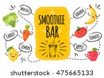 healthy menu. smoothie bar. | Shutterstock .eps vector #475665133