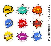 comic sound effects in pop art... | Shutterstock .eps vector #475666666