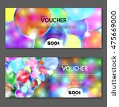 gift voucher. vector ... | Shutterstock .eps vector #475669000