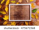 Autumn Leaf Composition With...