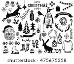 hand drawn black and white... | Shutterstock .eps vector #475675258