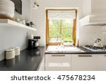 contemporary lacquered kitchen... | Shutterstock . vector #475678234