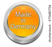 made in germany button   3d... | Shutterstock . vector #475680706