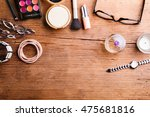 various make up products laid... | Shutterstock . vector #475681816