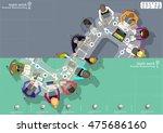vector team work businessman... | Shutterstock .eps vector #475686160
