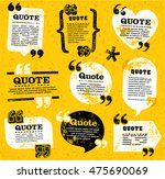 Stock vector big set of vector grunge quote decoration labels for web and paper publishing 475690069