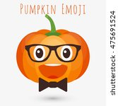 pumpkin emoji. pumpkin emoticon ... | Shutterstock .eps vector #475691524