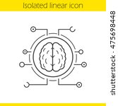 neural networks linear icon.... | Shutterstock .eps vector #475698448