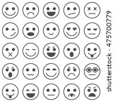 set of emoticons. set of emoji. ... | Shutterstock .eps vector #475700779