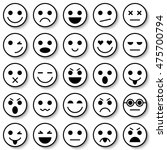 set of emoticons. set of emoji. ... | Shutterstock .eps vector #475700794