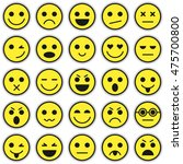 set of emoticons. set of emoji. ... | Shutterstock .eps vector #475700800