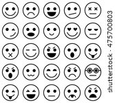 set of emoticons. set of emoji. ... | Shutterstock .eps vector #475700803