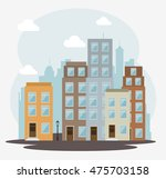cityscape buildings isolated... | Shutterstock .eps vector #475703158