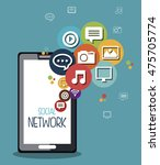 social network media isolated... | Shutterstock .eps vector #475705774