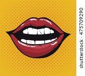 lip female beautiful d icon... | Shutterstock .eps vector #475709290