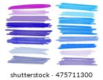 colored markers painted. raster ... | Shutterstock . vector #475711300
