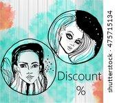 fashion beautiful women for... | Shutterstock .eps vector #475715134