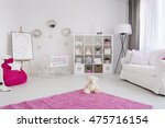 Baby Girl Room In Pastel Color...