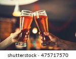two friends toasting with... | Shutterstock . vector #475717570