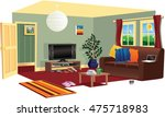 typical living room scene. | Shutterstock .eps vector #475718983