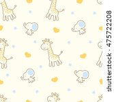 seamless pattern with cute... | Shutterstock .eps vector #475722208
