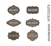 vintage badge logo design...   Shutterstock .eps vector #475722373